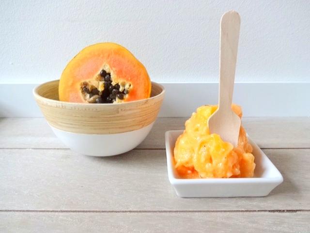Papaya-Kokos-Sorbet